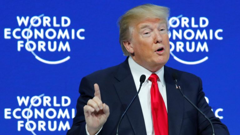Trump at Davos urges countries to 'put their own citizens first' boasts of US economic success