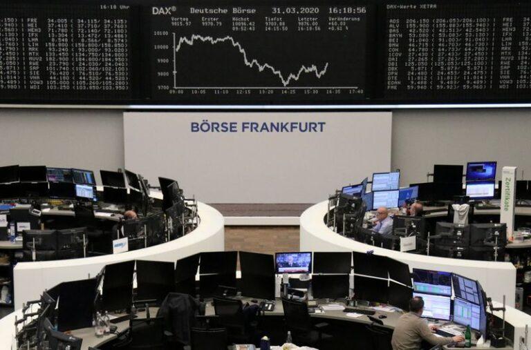 European shares jump as coronavirus deaths slow