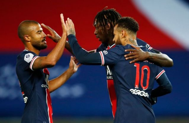 Kean double helps PSG go top with 4-0 win
