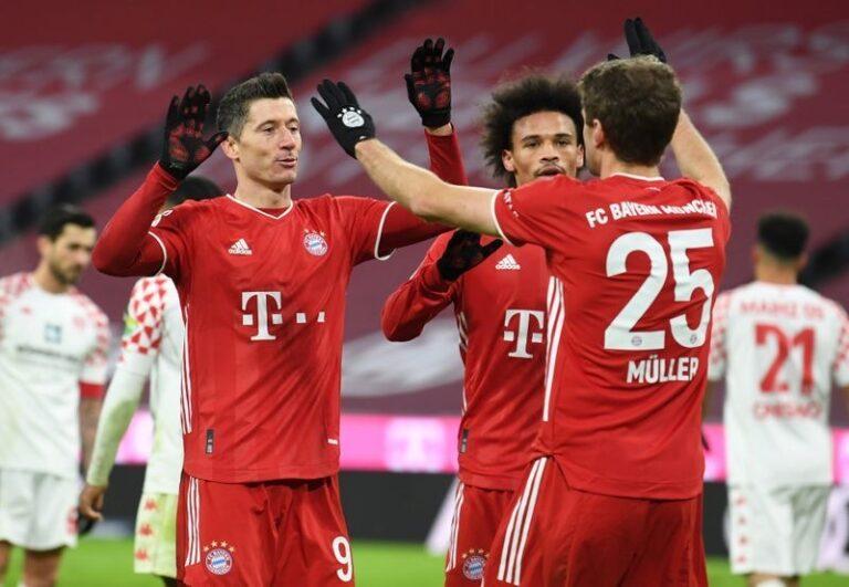 Bayern Munich rally back to retain Bundesliga top spot with 5-2 win