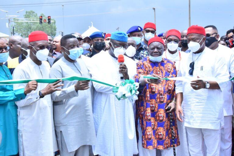 Fayemi Commissions Chukwuma Nwoha Road in Owerri